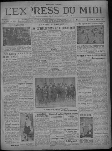 24 janvier 1931 - Bibliothèque de Toulouse