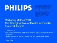 Marketing Metrics 2004 The Changing Role of Metrics Across the ...