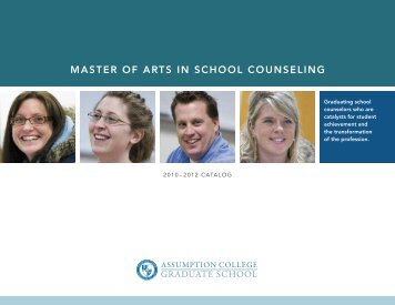master of arts in school counseling - graduate studies at assumption ...
