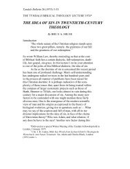 the idea of sin in twentieth-century theology - Tyndale House