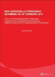 Hent rapporten her (pdf) - Institut for Menneskerettigheder