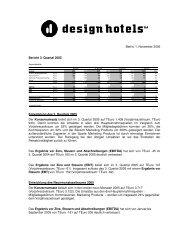 Berlin, 1. November 2005 Bericht 3. Quartal 2005 ... - Design Hotels