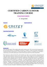 certified carbon auditor training course - CIBSE Hong Kong Branch