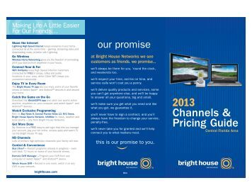 2013 Channels & Pricing Guide - Bright House Networks