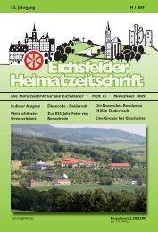 Die Monatsschrift für alle Eichsfelder - Mecke Druck und Verlag