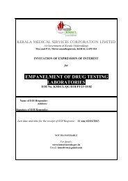 empanelment of drug testing laboratories - Kerala Medical Services ...