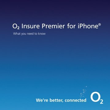 O2 Insure Premier for iPhone