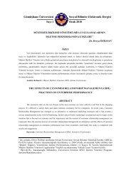 Müşteri İlişkileri Yönetimi (MİY) - GÜ SBE Elektronik Dergisi ...