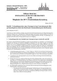 Offener Brief der INITIATIVE ZUKUNFT BETHANIEN an die ...