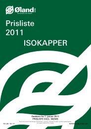 Prisliste 2011 ISOKAPPER