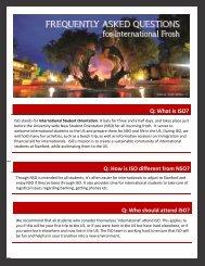 Frequently asked Questions - Bechtel International Center