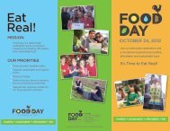 Food Day Brochure