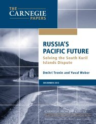 russia's pacific future - Carnegie Endowment for International Peace