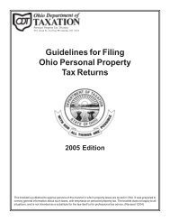 Guidelines for Filing Ohio Personal Property Tax Returns