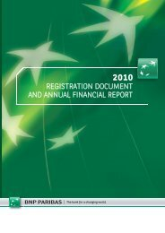Registration document and annual financial report - BNP Paribas