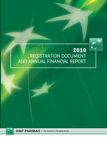 Registration document and annual financial report - BNP Paribas
