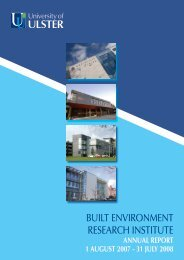built environment research institute - Research - University of Ulster