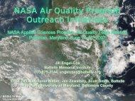 NASA Air Quality Program Outreach Initiatives NASA Air Quality ...