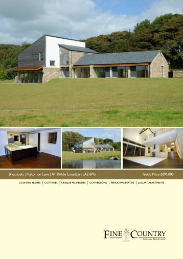 Broadoaks | Halton on Lune | Nr Kirkby Lonsdale ... - Fine & Country