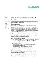 Kommissorium 2013 - Økonomi- og Indenrigsministeriet