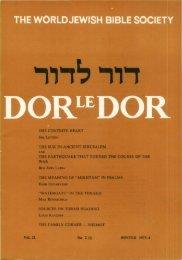 The Suk in Ancient Jerusalem - Jewish Bible Quarterly