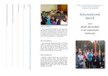 Anmeldung Grundkurs 2012