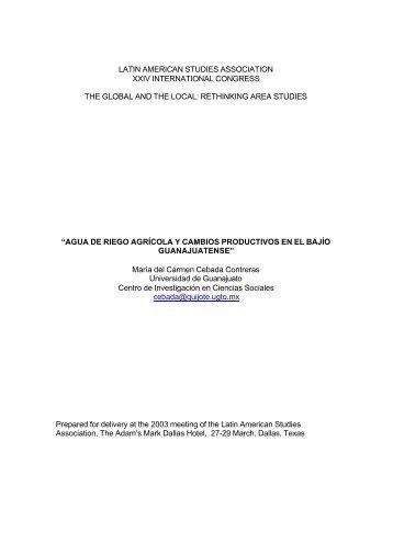 agua de rieg - Latin American Studies Association