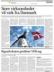Store virksomheder vil væk fra Danmark - American Chamber of ...