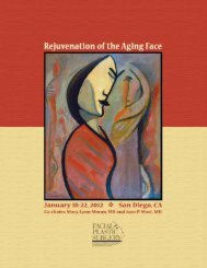 Aging Face 2012 Brochure.pmd - American Academy of Facial ...