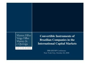 Convertible Instruments of Brazilian Companies in the International ...
