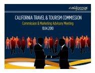 CALIFORNIA TRAVEL & TOURISM COMMISSION - the California ...
