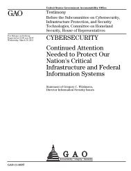 gao-cybersecurity - The Center for Regulatory Effectiveness