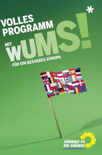 Europawahlprogramm von Bündnis 90 - des Deutschen Hanf Verband