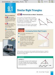 9-1 Similar Right Triangles - Nexuslearning.net
