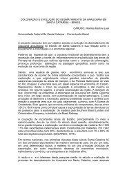 COLONIAÇÃO E EVOLUÇÃO DO DESMATAMENTO DA ...