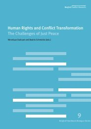 Human rights and conflict transformation: The challenges of just peace