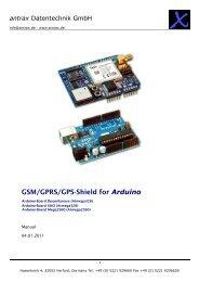 GSM/GPRS/GPS-Shield for the Arduino Development ... - antrax.de