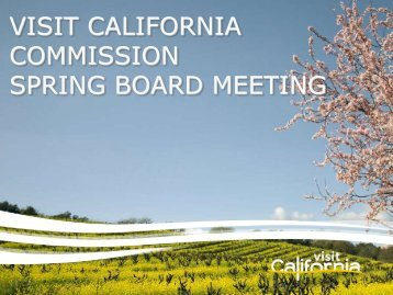 Presented - the California Tourism Industry Website