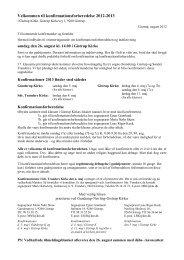 Velkommen til konfirmationsforberedelse 2012-2013 - Gistrup kirke
