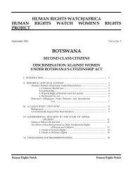 BOTSWANA - Human Rights Watch