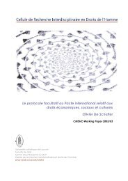 Le protocole facultatif au Pacte international relatif aux droits ...