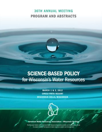 Conference Program - American Water Resources Association