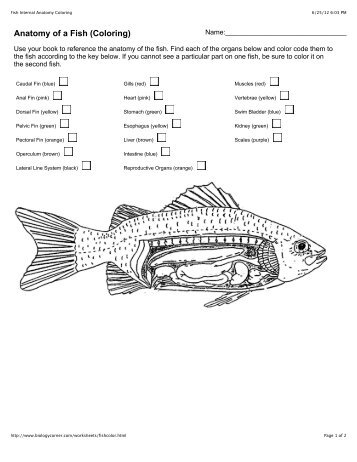 Lab 1 - Fish Anatomy - Center for Limnology