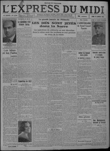 14 janvier 1935 - Bibliothèque de Toulouse