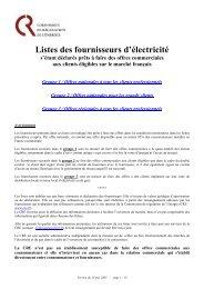 Listes des fournisseurs d'électricité - Costkiller