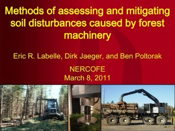 Methods of assessing and mitigating soil disturbances caused by ...