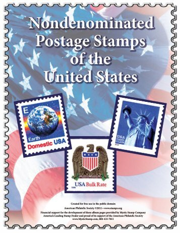 Nondenominated Postage Stamps of the United States - American ...
