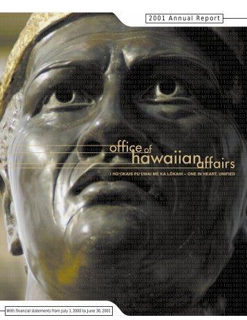 2001 Annual Report - Office of Hawaiian Affairs