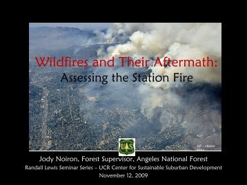 Wildfires a.. - Center for Sustainable Suburban Development