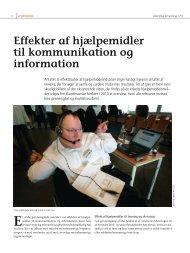 Effekter af hjælpemidler til kommunikation og information